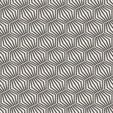 Naadloos zwart-wit patroon geometrisch met cirkels Stock Foto's