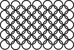 Naadloos zwart-wit patroon met rond Royalty-vrije Stock Afbeelding
