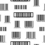 Naadloos zwart-wit patroon met streepjescodes Stock Fotografie