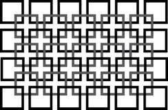 Naadloos zwart-wit patroon met vierkant Stock Afbeeldingen