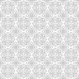Naadloos zwart-wit patroon op transparante achtergrond, Arabische stijl Stock Foto