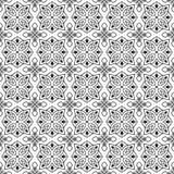 Naadloos zwart-wit patroon op transparante achtergrond, Arabische stijl Royalty-vrije Stock Afbeelding