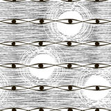 Naadloos zwart-wit patroon. Vector abstracte achtergrond. Stock Afbeeldingen