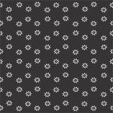 Naadloos zwart-wit patroon royalty-vrije illustratie