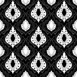 Naadloos zwart-wit patroon 14 Royalty-vrije Stock Fotografie