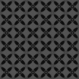 Naadloos Zwarte en Gray Abstract Flower Pattern Stock Foto