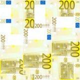 Naadloze 200 Euro Royalty-vrije Stock Foto's