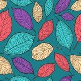 Naadloze abstracte achtergrond Decoratief bladerenpatroon Vector illustratie vector illustratie