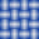 Naadloze abstracte achtergrond met blauwe controleurspatronen in metaalontwerp, 3d optische kunstillusie Royalty-vrije Stock Afbeelding