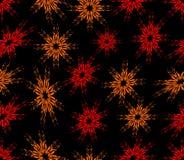 Naadloze abstracte achtergrond met rode bespoten bloemen Stock Foto's