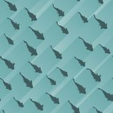 Naadloze abstracte achtergrond met school van vissen royalty-vrije illustratie