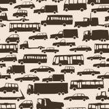 Naadloze abstracte achtergrond met vele auto's. Royalty-vrije Stock Afbeelding