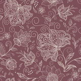 Naadloze abstracte bloemenachtergrond Stock Foto's