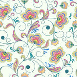 Naadloze abstracte bloemenachtergrond Royalty-vrije Stock Foto's