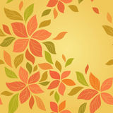 Naadloze abstracte bloemenachtergrond Stock Afbeelding