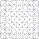 Naadloze abstracte bloemenpatronen Geometrisch bloemenornament Stock Afbeelding