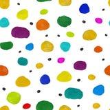 Naadloze abstracte cirkelsgouache en acrylpatroon vector illustratie