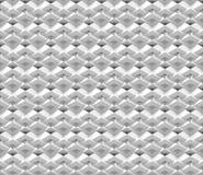 Naadloze abstracte die 3d achtergrond van witte veelhoekige structuren wordt gemaakt Stock Afbeelding