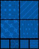 Naadloze abstracte geometrische patronen Stock Afbeeldingen