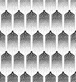 Naadloze abstracte geometrische puntenachtergrond royalty-vrije illustratie