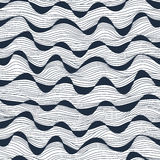 Naadloze abstracte hand-drawn golventextuur Exemplaar dat vierkant aan t Stock Afbeeldingen