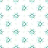 Naadloze abstracte patroon gekleurde sneeuwvlokken Royalty-vrije Stock Afbeeldingen