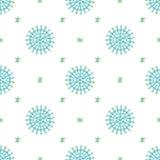 Naadloze abstracte patroon gekleurde sneeuwvlokken Stock Foto's