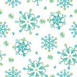 Naadloze abstracte patroon gekleurde sneeuwvlokken Royalty-vrije Stock Foto
