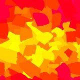 Naadloze abstracte rode en gele vlekken stock illustratie
