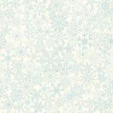 Naadloze abstracte sneeuwvlokachtergrond Stock Foto