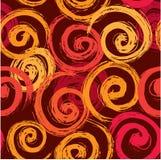 Naadloze abstracte textuur - hand getrokken cirkels Stock Foto