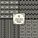 Naadloze abstracte vector stammenpatroontextuur op zwart-wit achtergrond royalty-vrije stock foto's