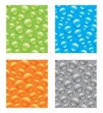 Naadloze Abstracte Waterdrops stock illustratie