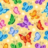 Naadloze achtergrond 1 van de vlinder Royalty-vrije Stock Foto's