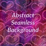 Naadloze achtergrond, de harten van de Valentijnskaart Stock Foto's