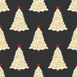 Naadloze Achtergrond De mooie elegante boom van de Kerstmispijnboom Stock Afbeeldingen