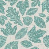 Naadloze Achtergrond Decoratief bladerenpatroon Uitstekende vectorillustratie vector illustratie