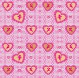 Naadloze achtergrond die uit harten voor Valentijnskaartendag bestaan Royalty-vrije Stock Foto
