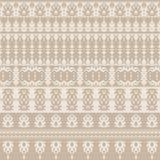 Naadloze achtergrond in gevoelige kleuren met decoratief het herhalen patroon stock illustratie