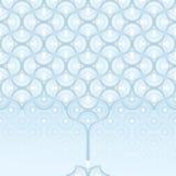 Naadloze achtergrond - het patroon van de de winterboom vector illustratie