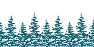 Naadloze achtergrond, Kerstbomen Royalty-vrije Stock Afbeelding