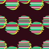 Naadloze achtergrond met abstract geometrisch patroon Abstracte digitale grafisch glitch Royalty-vrije Stock Afbeeldingen