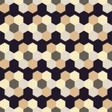 Naadloze achtergrond met abstract geometrisch patroon Hexagon patroon Royalty-vrije Stock Fotografie