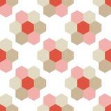 Naadloze achtergrond met abstract geometrisch patroon Hexagon patroon Stock Foto