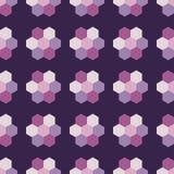 Naadloze achtergrond met abstract geometrisch patroon Hexagon patroon Stock Foto's
