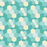 Naadloze achtergrond met abstract geometrisch patroon Hexagon patroon Stock Afbeelding