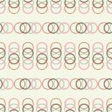 Naadloze achtergrond met abstract geometrisch patroon Textuur van de ringen Royalty-vrije Stock Afbeelding