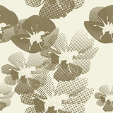 Naadloze achtergrond met bloemen Royalty-vrije Stock Foto's