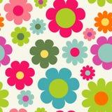 Naadloze achtergrond met bloemen Stock Afbeelding