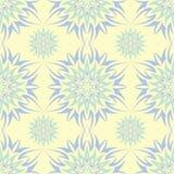 Naadloze achtergrond met bloemenpatroon Beige achtergrond met lichtblauwe en groene bloemelementen Royalty-vrije Stock Foto's